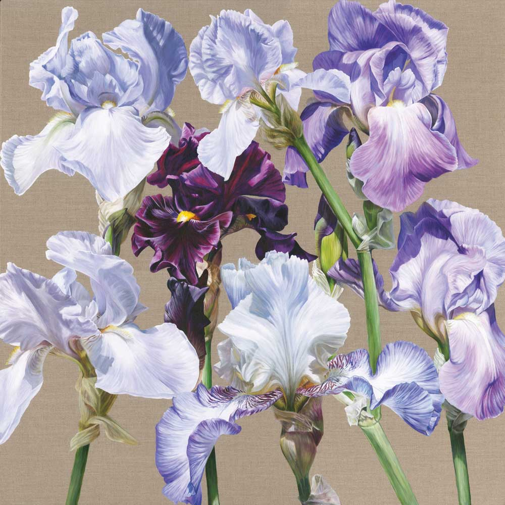 Blue Iris Rhapsody painting by Sarah Caswell