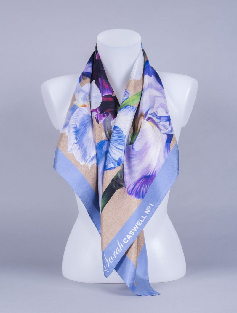 Silk Scarf by Sarah Caswell draped over human form