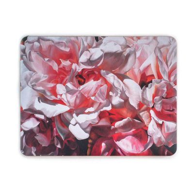 Pink Albertine roses painting by Sarah Caswell melamine tablemat