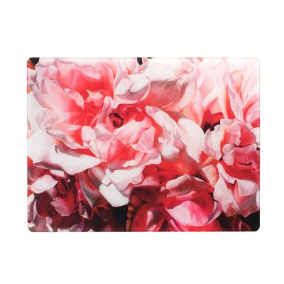 Pink Albertine roses painting by Sarah Caswell glass worktop saver