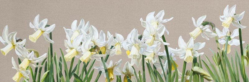 Canvas Print of Original acrylic painting 'Effortlessly Breathless' by Sarah Caswell