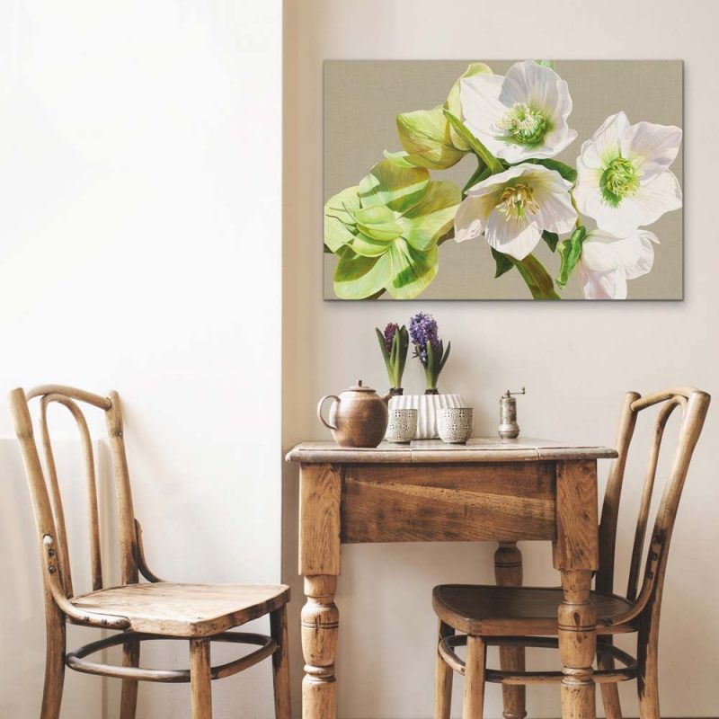Canvas print of Gazing Into the Sunshine by Sarah Caswell, depicted in a home setting.
