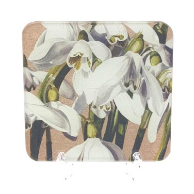 Coaster of the original acrylic painting, Parade by UK floral artist Sarah Caswell. Made in the UK from toughened, recycled glass on acrylic feet